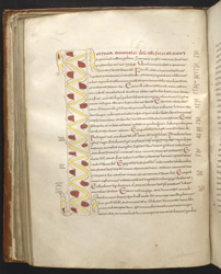 Decorated Initial To Mark's Gospel, In 'The Thorney Gospels'